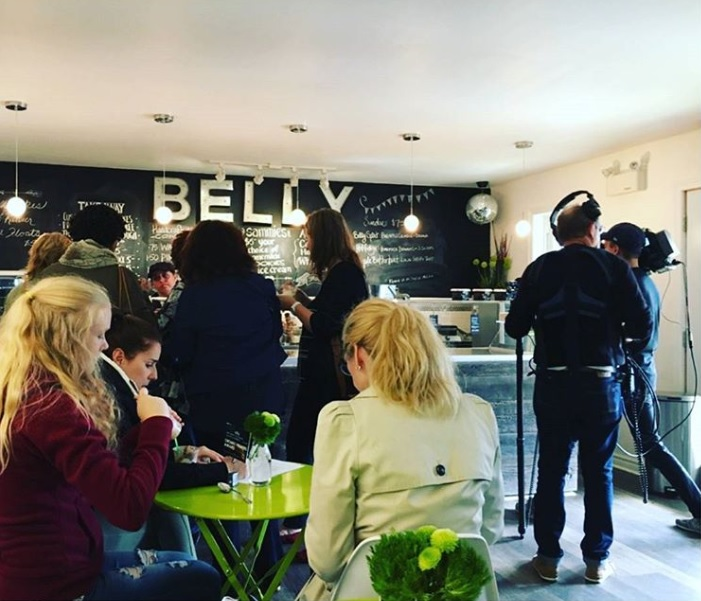 CBC's Dragons' Den stopped by Belly Ice Cream in October 2017 to film an update on the company (@bellyicecreamcompany / Instagram)