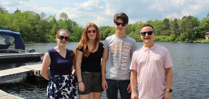 (From left) Lauren Saunders of Veronica Leonard and Friends, jazz duo Josie Robinson and Jack Nickalls, and Algonquin Theatre Manager, Matt Huddlestone