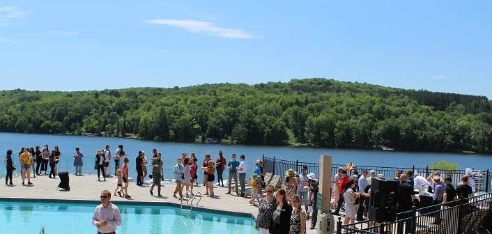 Mother Nature served up perfect party weather for the grand opening of Deerhurst Resort's Lakeside Lodge