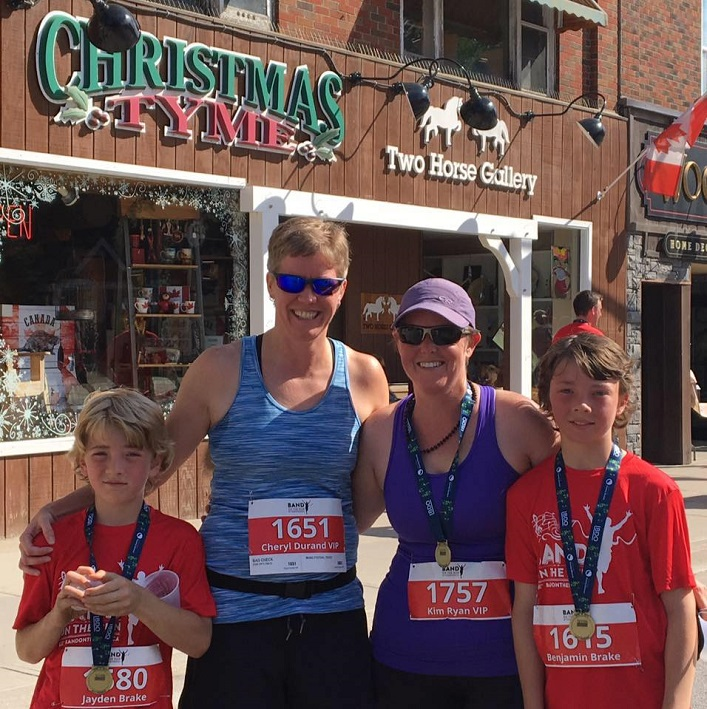 (From left) Jayden Brake, Cheryl Durand, Kim Ryan and Ben Brake at BOTR 2017 (Photo courtesy of Cheryl Durand)