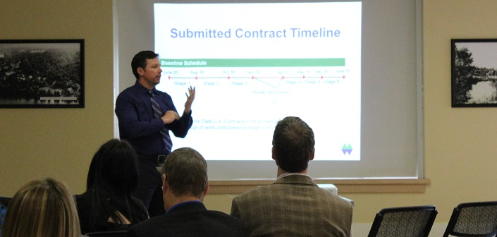 The District's Mark Misko provides an update on the upcoming King William construction project