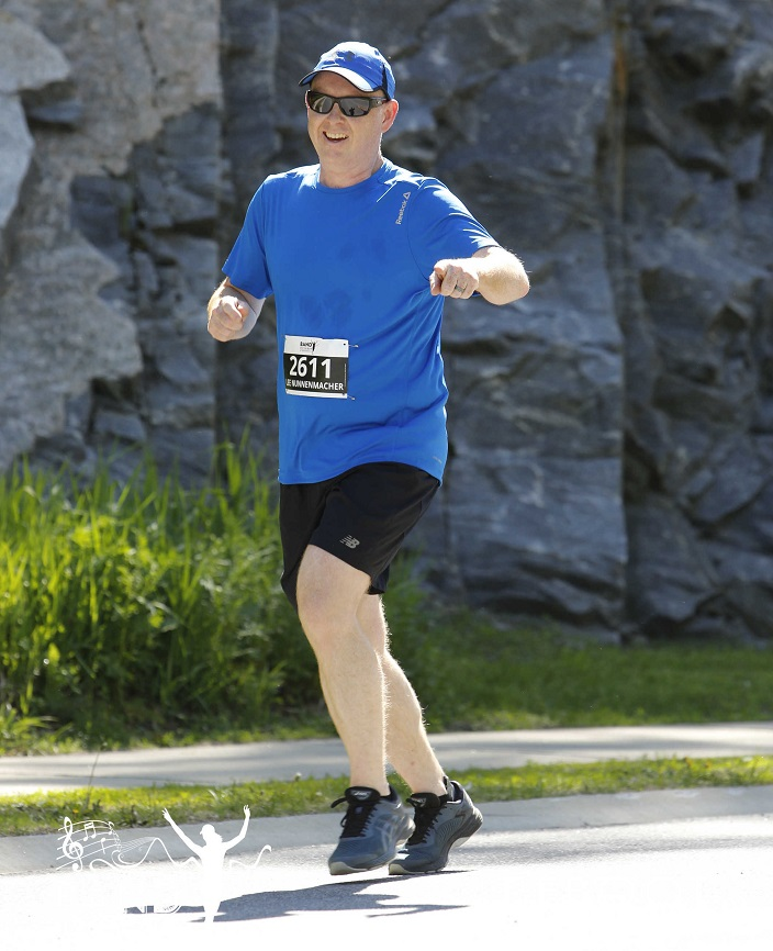 Lee Nunnenmacher is an Unquenchable Motivator. He also ran his first 56km race last year. (supplied)