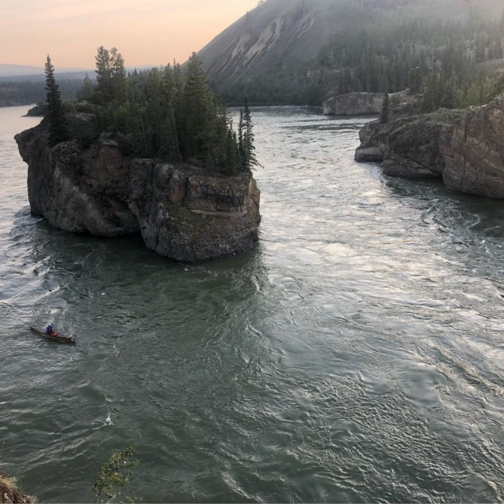 Chris Near makes his way through Five Finger Rapids at just before 10pm on night two of the race (Rebecca Francis)