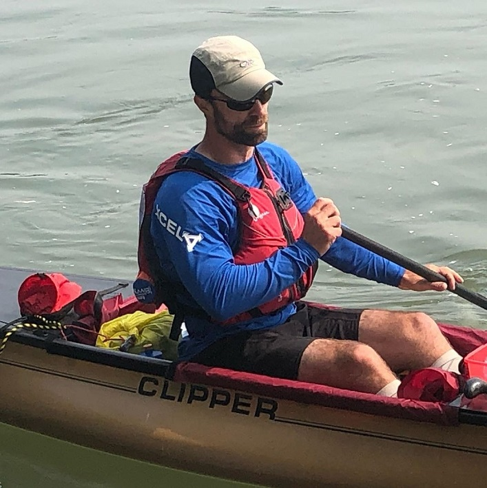 """Chris Near is """"destroyed but determined"""" when he arrives at the Carmacks checkpoint just over 24 hours into the Yukon River Quest (Rebecca Francis)"""