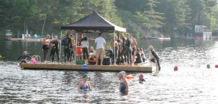 The NyDock swim-up coffee bar was a popular post-swim stop