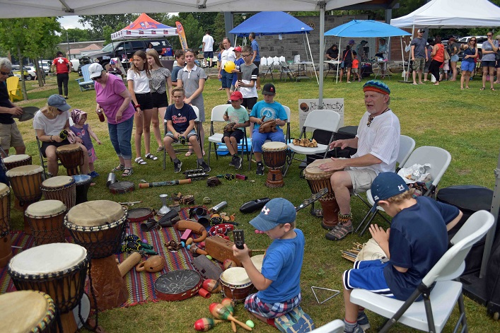 """Barry """"Bazza"""" Hayward's drum circle was a hit with young and old"""