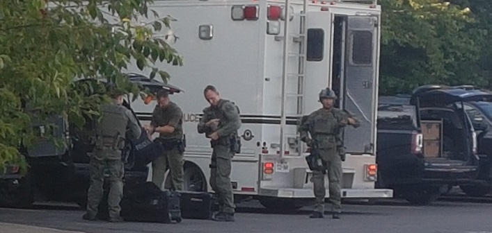 The OPP tactical unit responded to reports of gunshots near King William Street on August 19, 2019.
