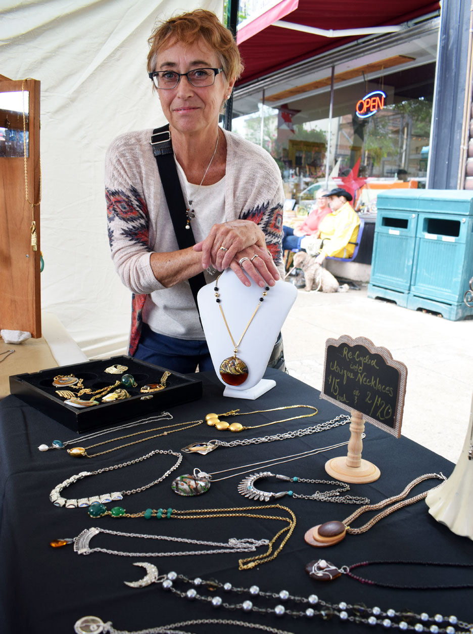 Kerry Garner of Recreations knows just what to do with that old, broken watch or bracelet. She will turn into something shiny and new that you can wear for years to come.