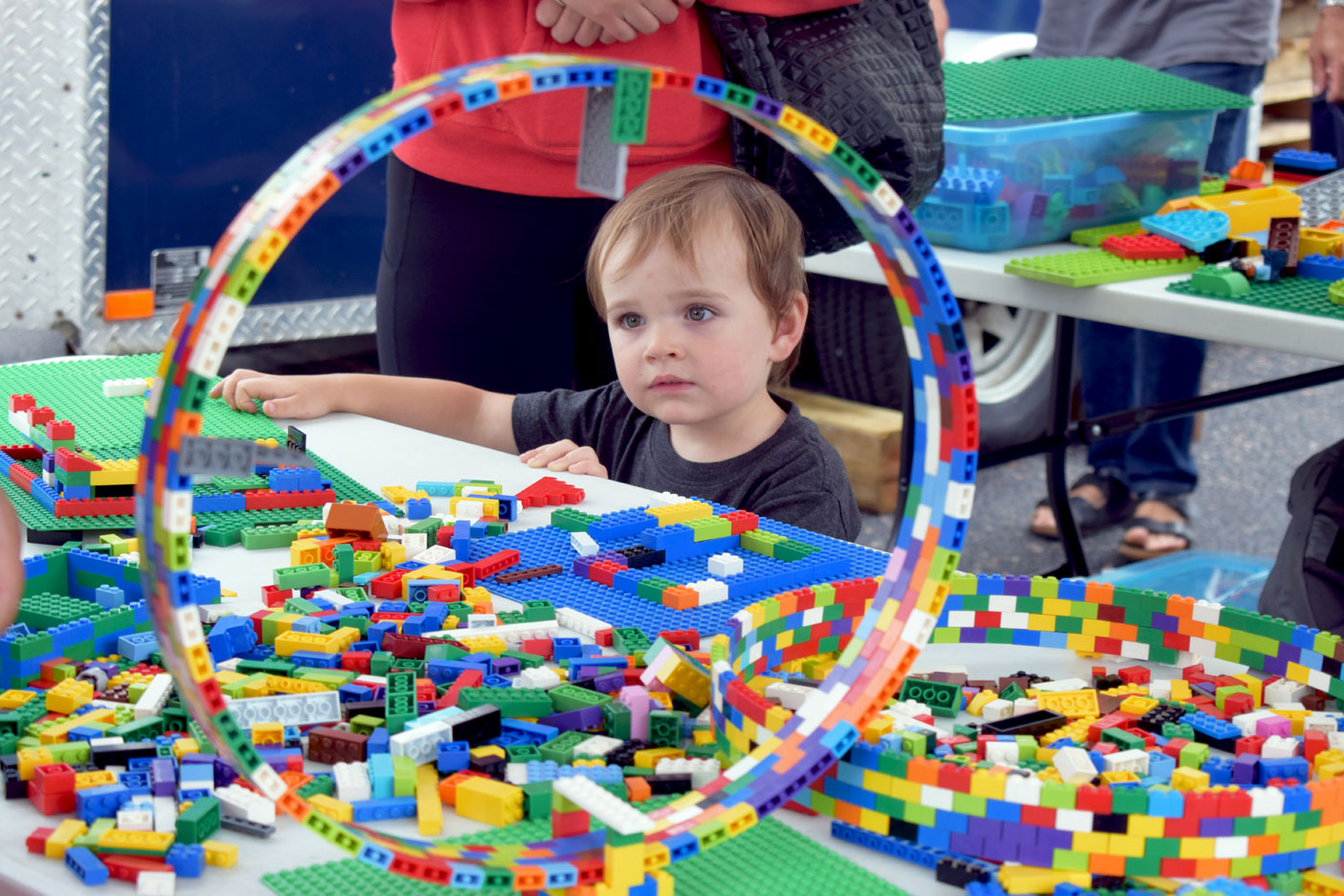 Like so many other cute kids, Lucas Hearn had a blast playing at the Lego table.