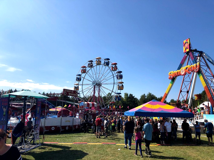 The midway always provides hours of fun