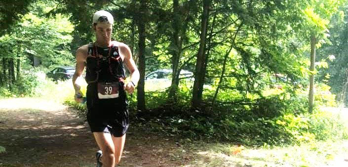 Kip Arlidge at the 2019 Haliburton Forest Trail Race (Photo: Bonnie Fowler)