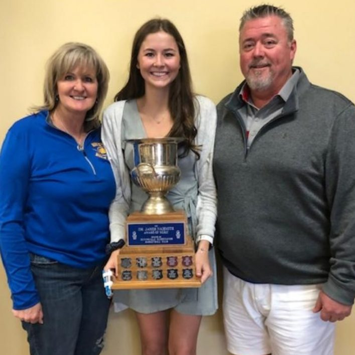 Emma McAlpine received the James Naismith Award for her commitment to the Huntsville Hurricanes organization (supplied)
