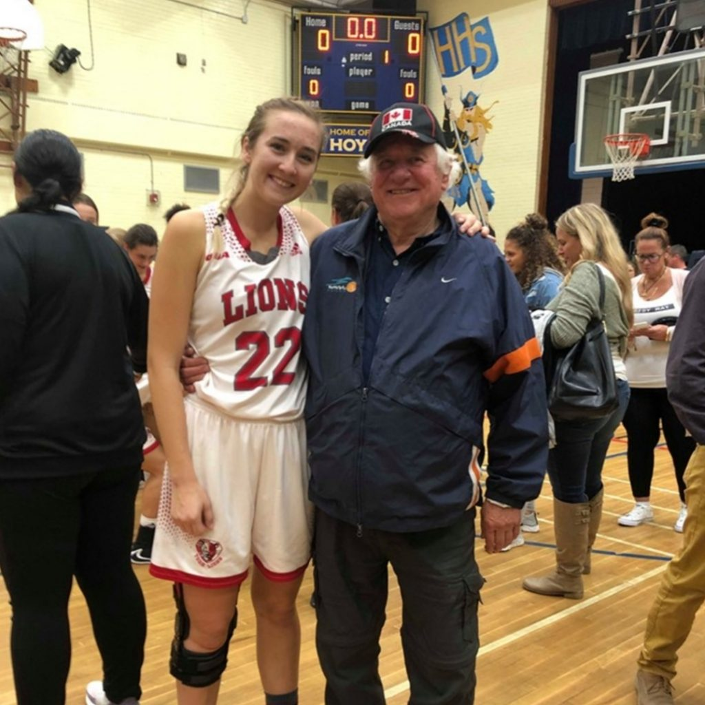 """Taylor with George Hoo, one of her first coaches who was the most influential. """"He really believed in me and pushed me to be better."""""""