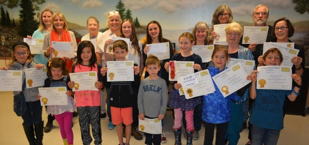 The 2019 Stisted Fall Fair award recipients (supplied)