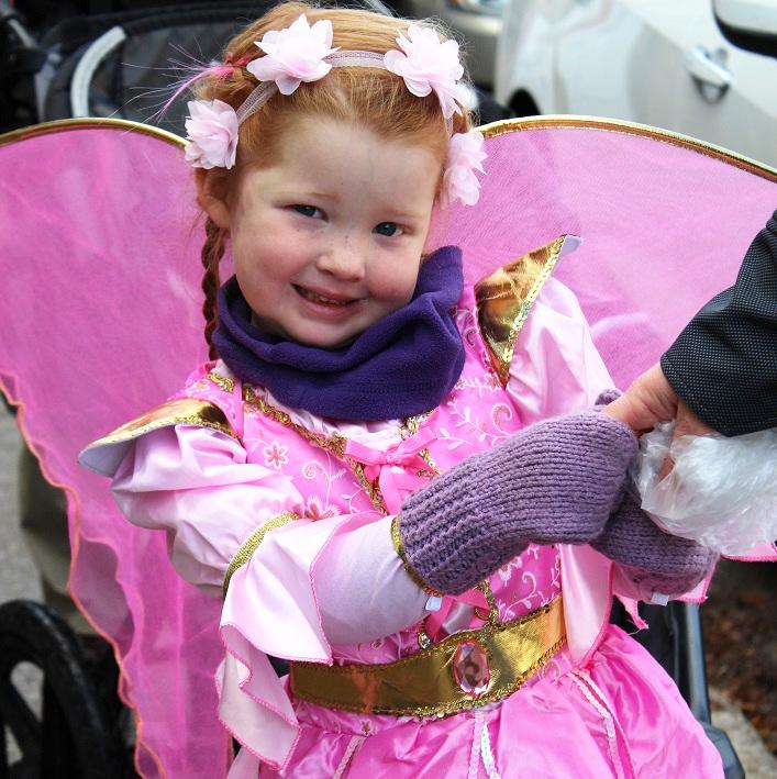 Evelyn LeRoy strikes a fabulous fairy pose