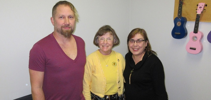 (From left) Frank Berg, Francis Balodis, and Judy Freeman (supplied)
