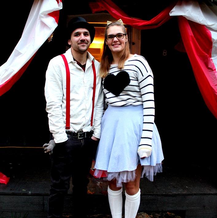 Travis Seburn (left) and Naomi Bruin