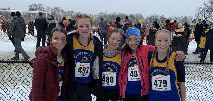 The HHS novice girls cross-country team had the school's best showing ever at OFSAA 2019 (supplied)