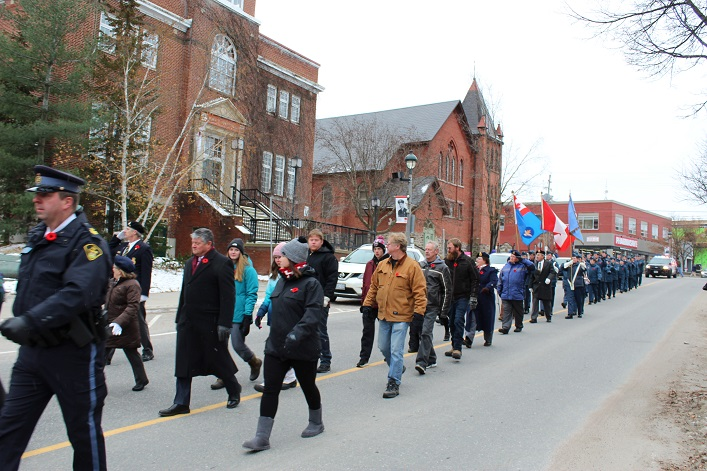 Veterans' family members were welcome to join the parade (Dawn Huddlestone)
