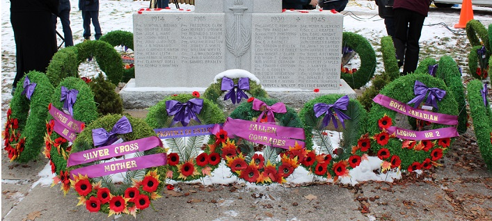 Among the wreaths were those honouring fallen comrades (Dawn Huddlestone)