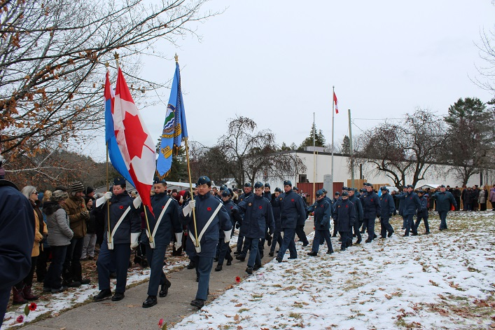 The Norseman 844 Royal Canadian Air Cadets leave the service (Dawn Huddlestone)