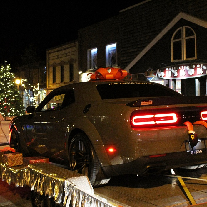 How would you like to find the keys to this Charger under your tree? Drive Muskoka might have put a few wishes into the minds of parade goers
