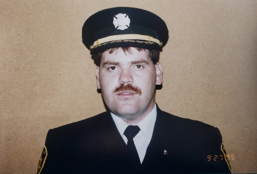 Steve Hernen in 1995, two years before he became fire chief (Courtesy of Steve Hernen)
