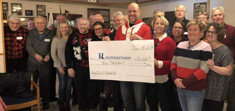 Rotary Club of Huntsville donates $10,000 to Huntsville Hospital Foundation (supplied)