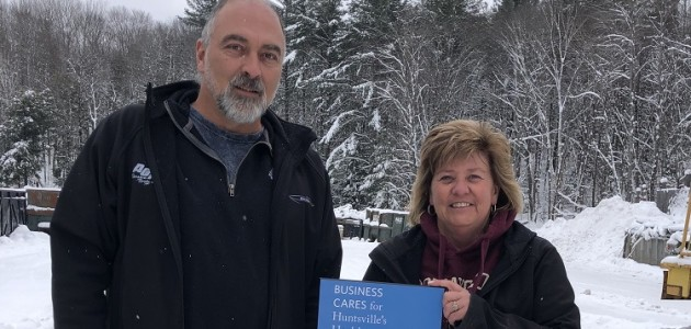 Kevin Primmer (left) and Bev Swan, owners of All Ontario Recycling (supplied)