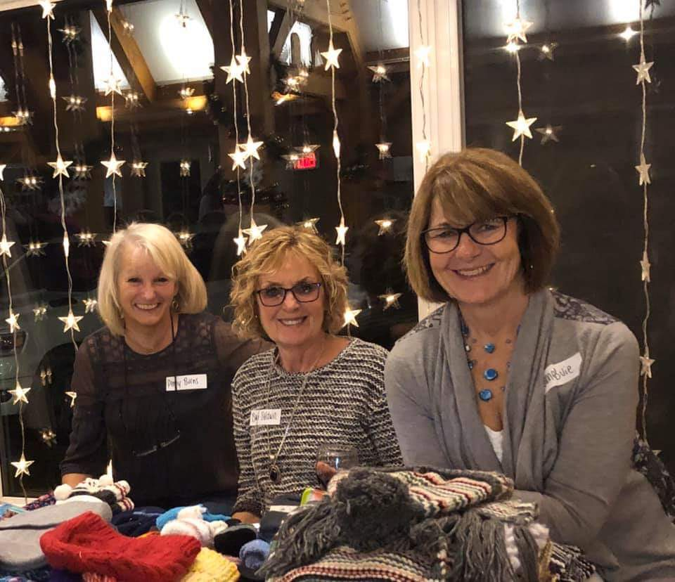 The Muskoka Shoebox Project organizers (from left) Penny Burns, Barb Baldwin and Joanne Buie (The Muskoka Shoebox Project / Facebook)