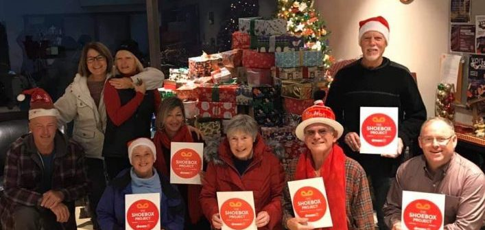 The Salvation Army was one of 18 local agencies to receive shoeboxes (The Muskoka Shoebox Project / Facebook)