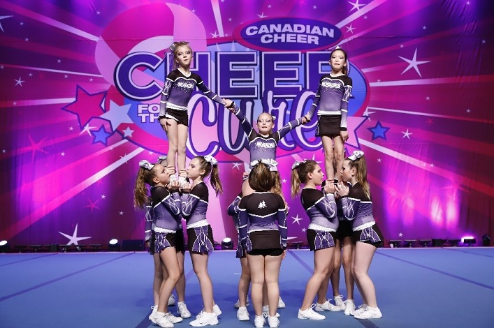 The Muskoka Elite Cheer Club's Shooting Stars team at Cheer for the Cure (Todd Thomson)
