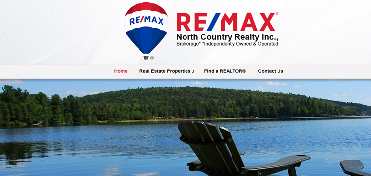 The website for RE/MAX North Country Realty is no longer accessible