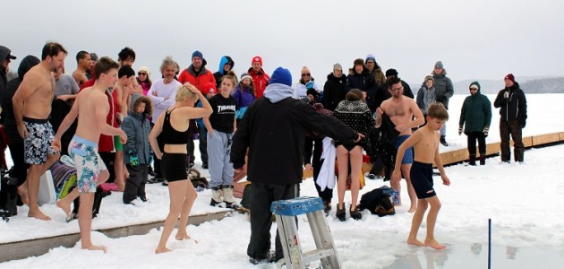 Dippers line up to take the plunge for the ninth annual Huntsville Polar Bear Dip