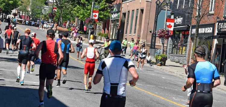 The 2019 Ironman 70.3 Muskoka run course included Main Street (Cheyenne Wood)