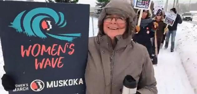 The Muskoka Women's March took place in Bracebridge on Jan. 18, 2020 (Muskoka Women's March / Facebook)