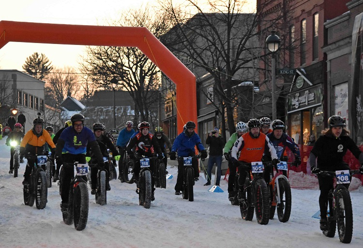 Fatbike enthusiasts took to the street for the inaugural Muskoka Fatbike Race, presented by the Huntsville Mountain Bike Association (Cheyenne Wood)