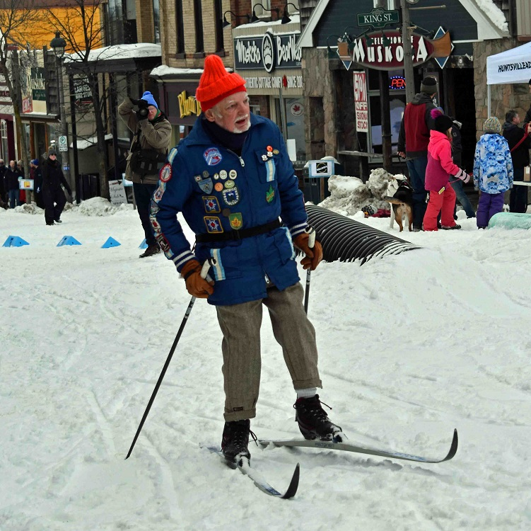 Residents took advantage of the opportunity to ski on the snow-covered Main Street (Cheyenne Wood)