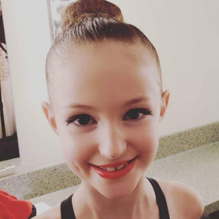 Ava Fuller ready for the MDA Christmas recital at the Algonquin Theatre (Brittany Fuller)