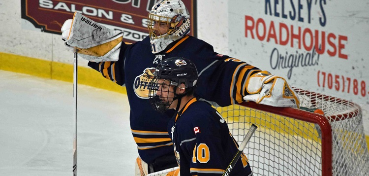 Cousins Mitchell (left) and Cody Jones are finishing out their junior hockey careers with the Huntsville Jr. C Otters (Cheyenne Wood)