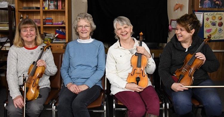 (From left) Francesca Dancer-Geneau, Carole Gautreau, Valerie Fieldwebster, and Dawna Mitchell (Douglas McLean)