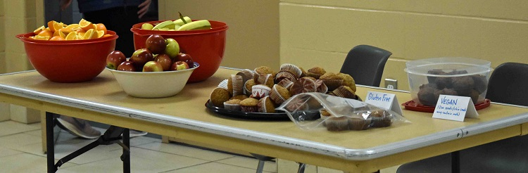A variety of healthy snacks awaited participants following the event (Cheyenne Wood)