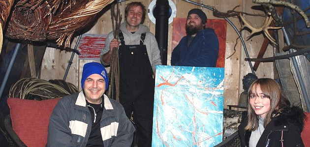 Muskoka Unlimited founder Chris Occhiuzzi (front left), with (clockwise from back left) Nathan Sowrey, JF Kuehnen, and Anwyn Westgarth (Dante Occhiuzzi)