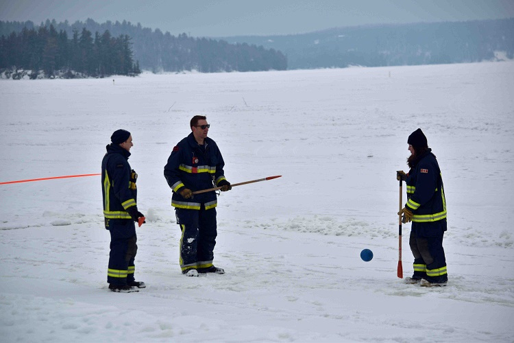 The Port Sydney Firefighter's Association hosted a broomball tournament (Cheyenne Wood)