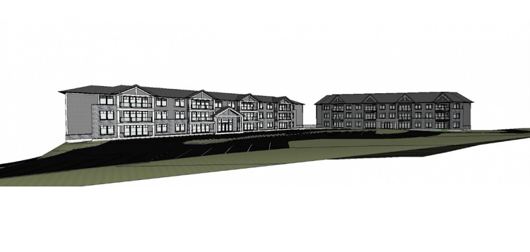 Rendition provided by the applicant of the two proposed buildings on Florence Street Wast.