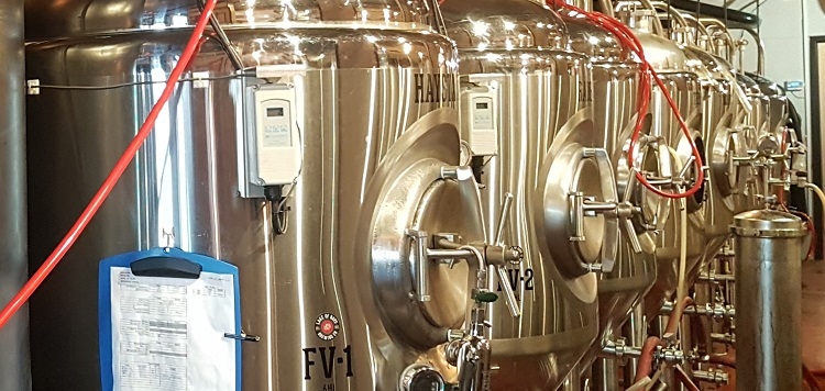Fermenters at the Huntsville Brewhouse (Dawn Huddlestone)