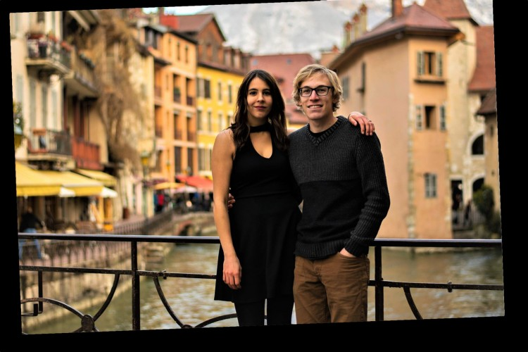 Nicole and Nick Duquette in Annecy, France (supplied)