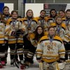 Huntsville Sting Peewee White Armstrong with their silver medals (supplied)
