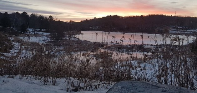 Huntsville's Cann Lake at sunrise, March 16, 2020 (Dawn Huddlestone)