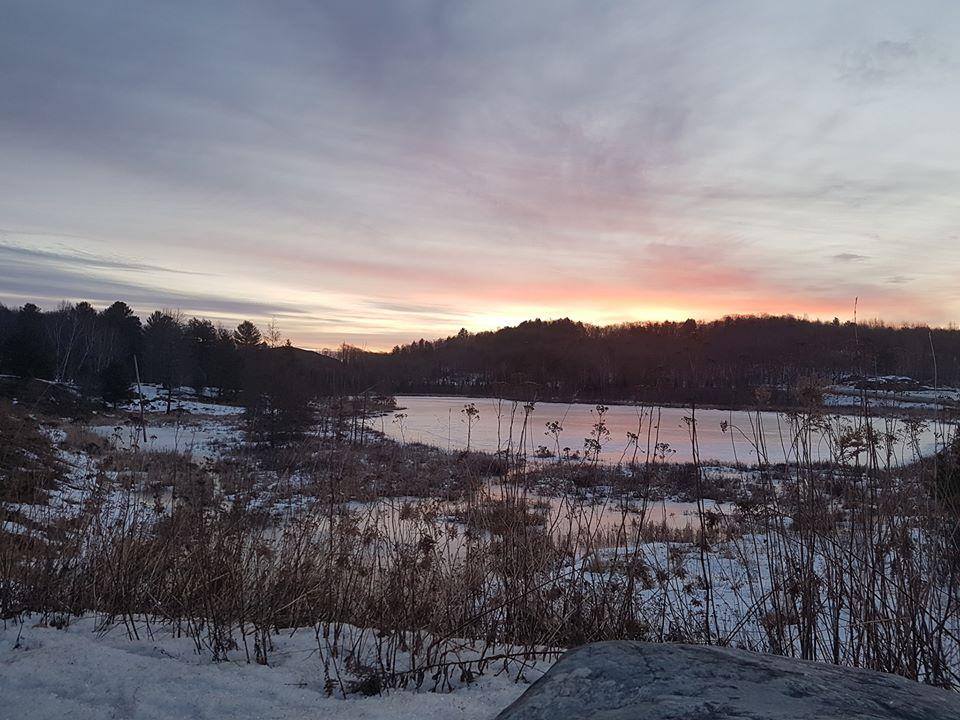Huntsville's Cann Lake at sunrise on March 16, 2020 (Dawn Huddlestone)